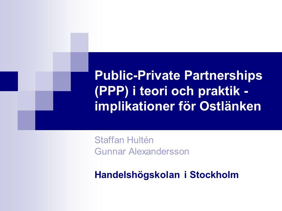 Staffan Hultén Gunnar Alexandersson Handelshögskolan i Stockholm