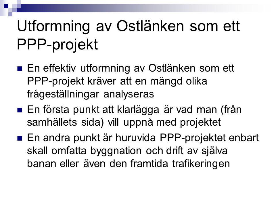 Utformning av Ostlänken som ett PPP-projekt
