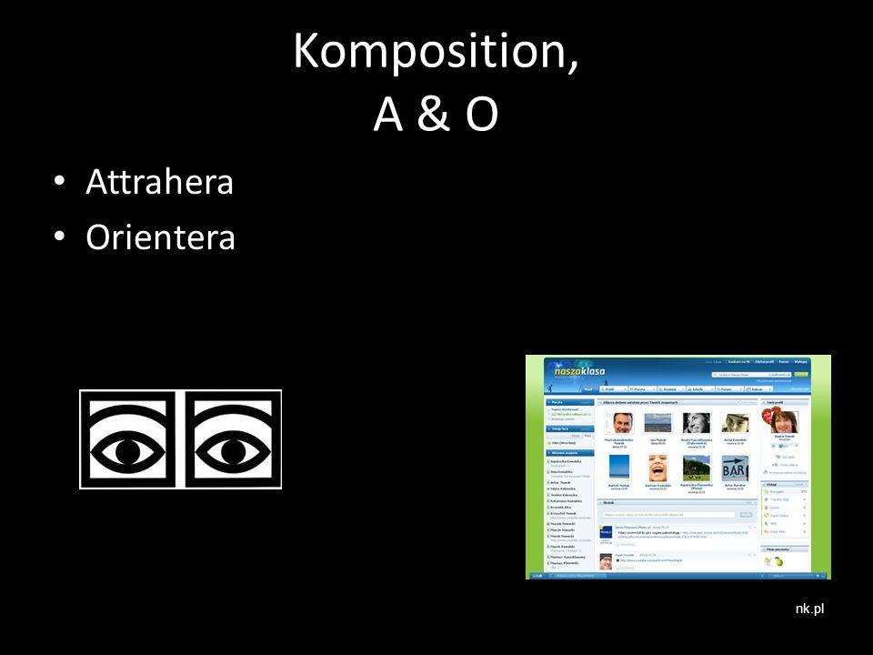 Komposition, A & O Attrahera Orientera