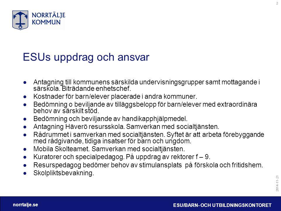 ESUs uppdrag och ansvar