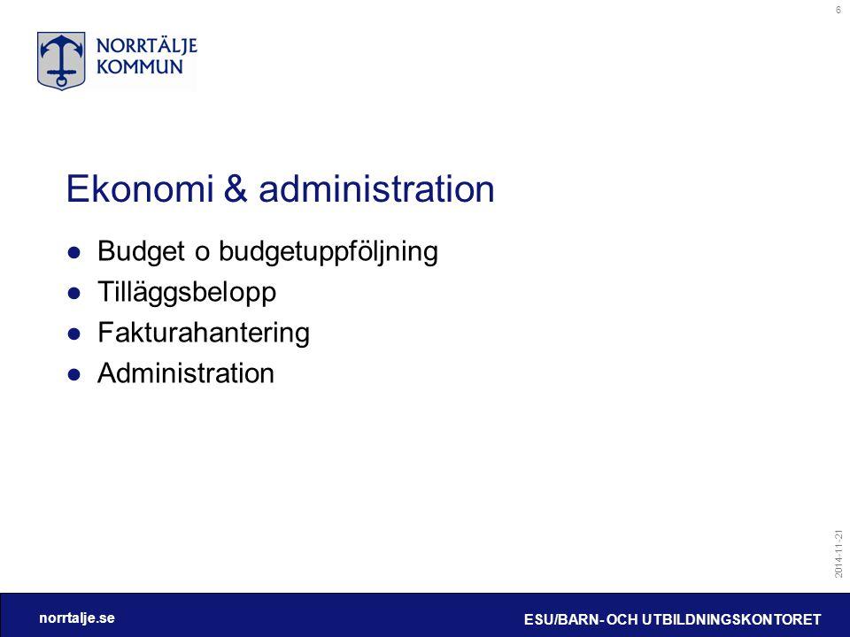 Ekonomi & administration