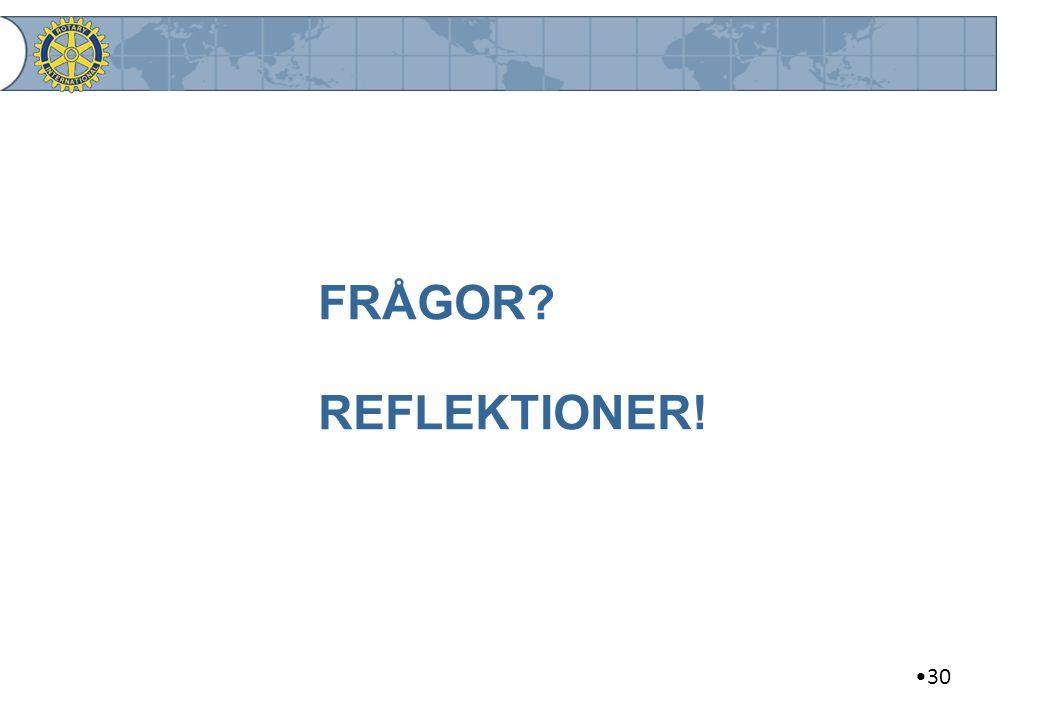 FRÅGOR REFLEKTIONER! 30