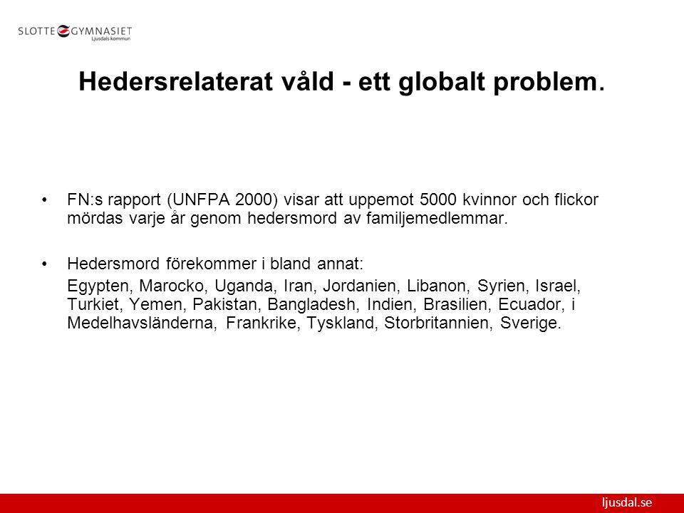 Hedersrelaterat våld - ett globalt problem.