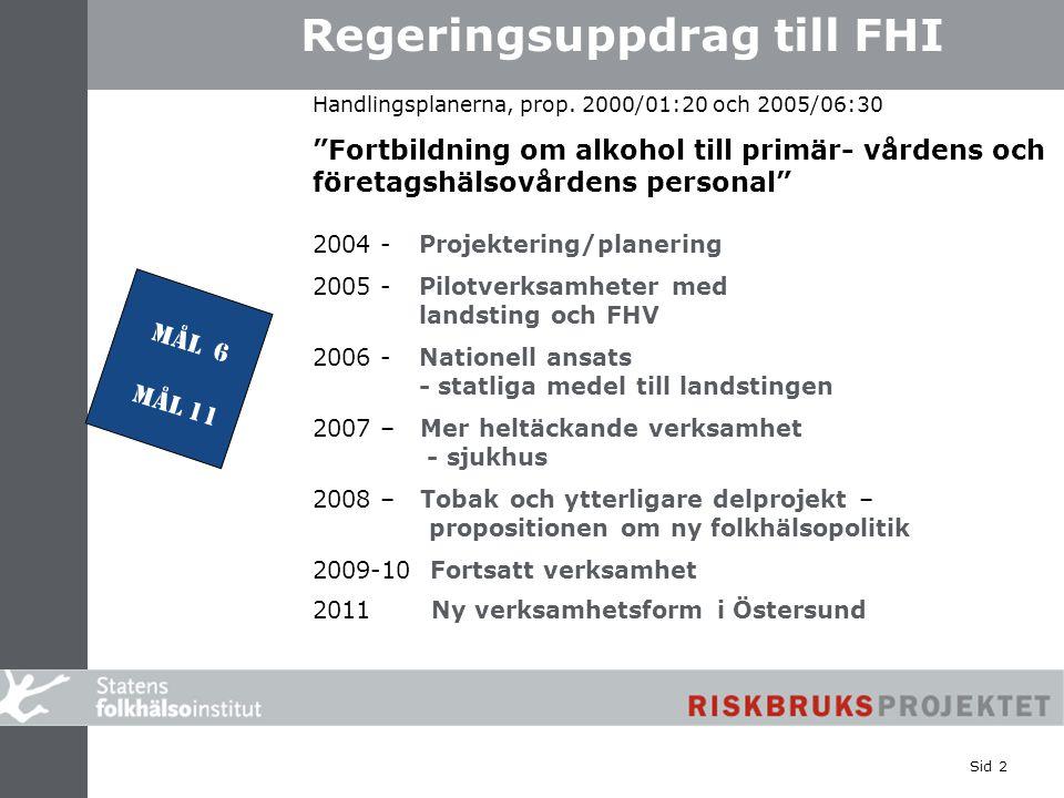 Regeringsuppdrag till FHI