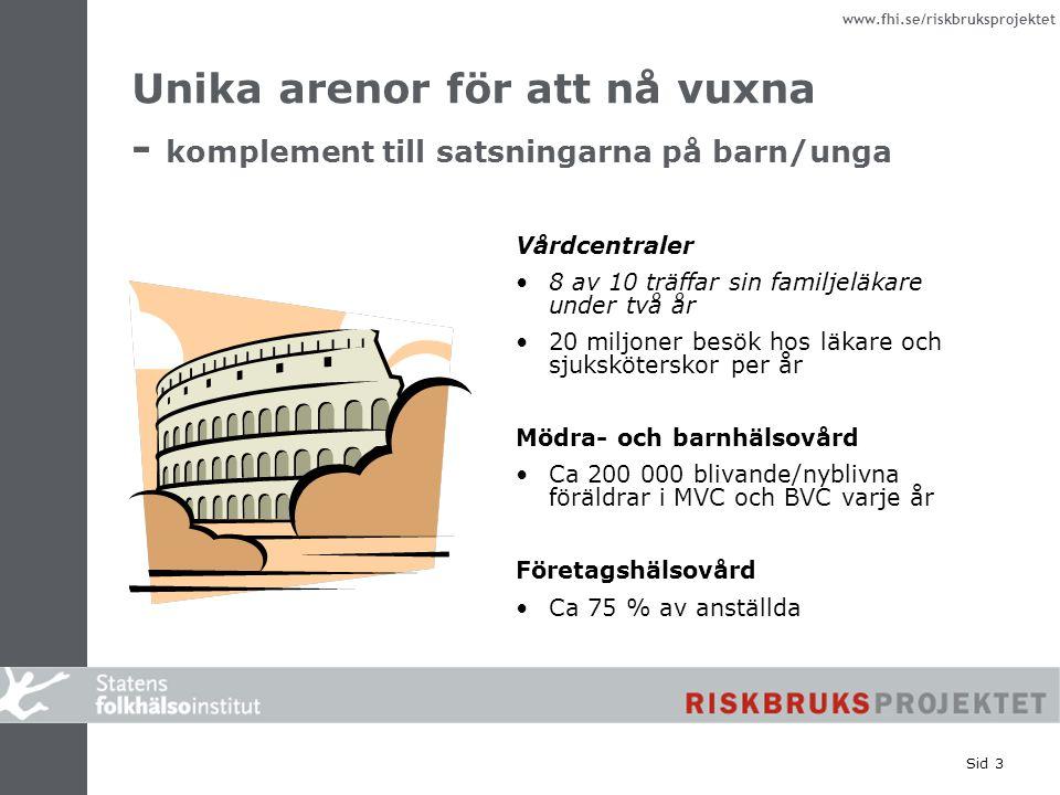 Unika arenor för att nå vuxna - komplement till satsningarna på barn/unga
