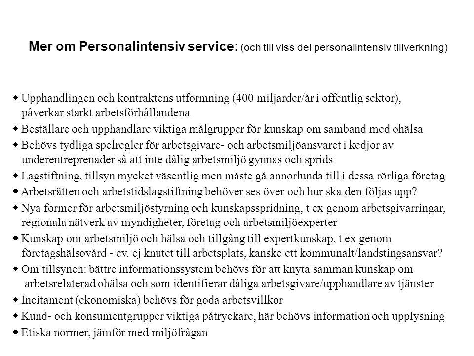 Mer om Personalintensiv service: (och till viss del personalintensiv tillverkning)