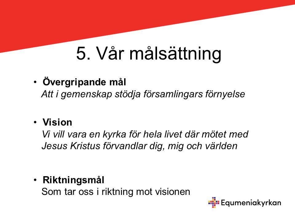 5. Vår målsättning Övergripande mål