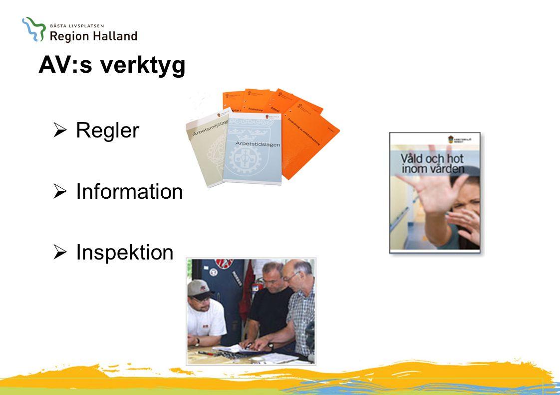 AV:s verktyg Regler Information Inspektion AR