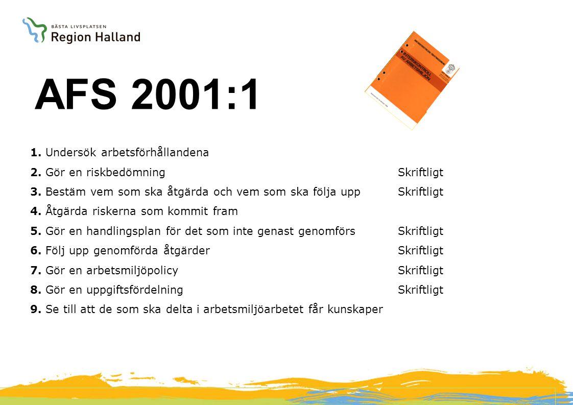 AFS 2001:1 AFS föreskrifter Arbetsmiljöverket