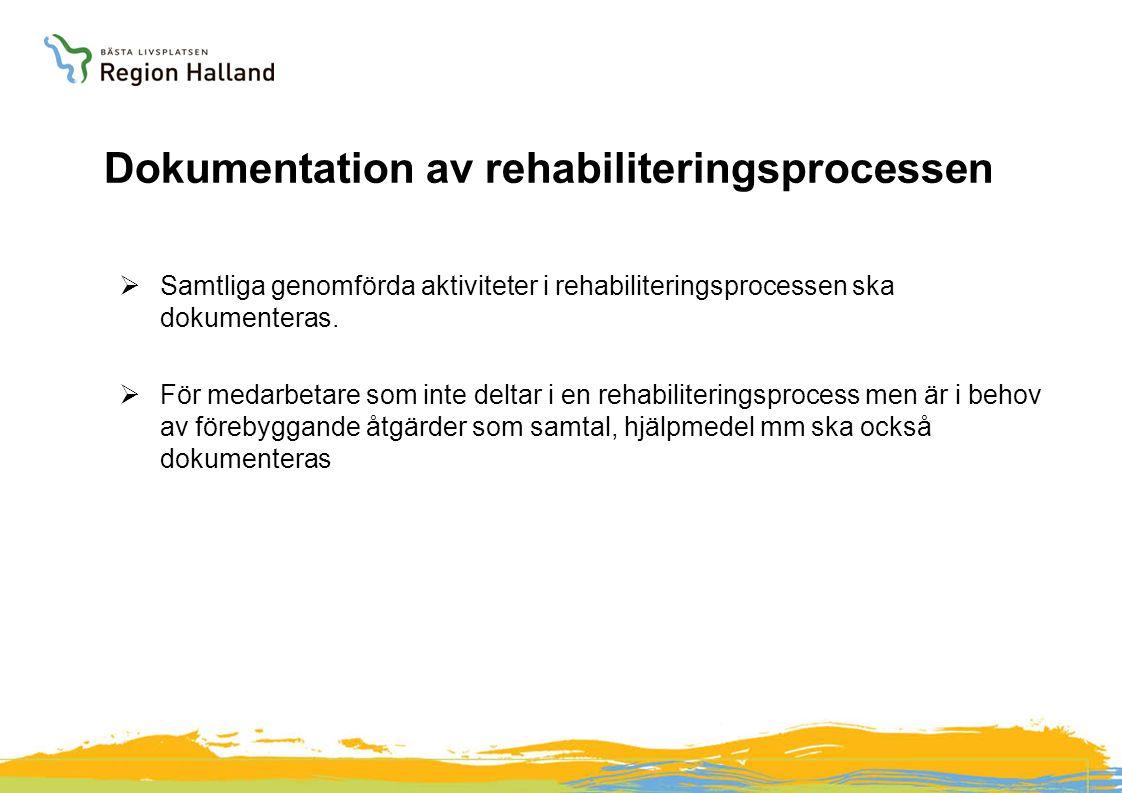 Dokumentation av rehabiliteringsprocessen
