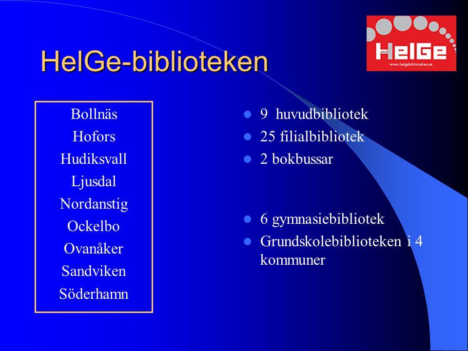 HelGe-biblioteken Bollnäs Hofors Hudiksvall Ljusdal Nordanstig Ockelbo