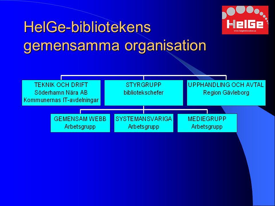 HelGe-bibliotekens gemensamma organisation