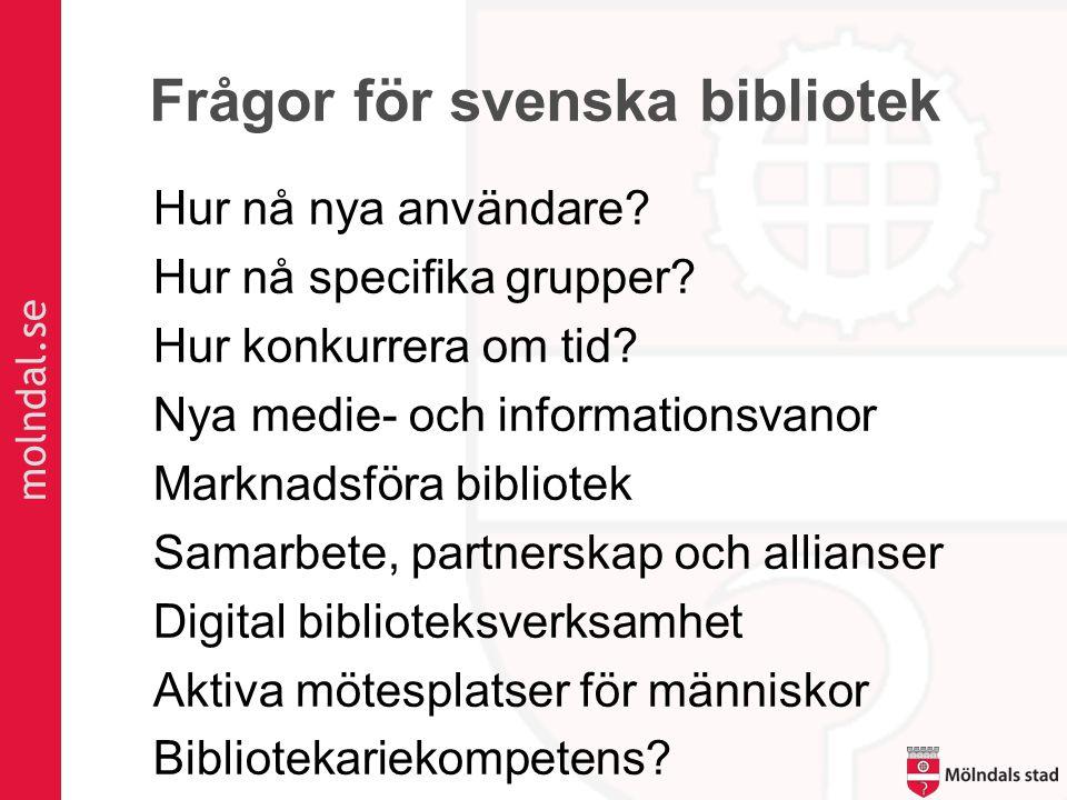 Frågor för svenska bibliotek