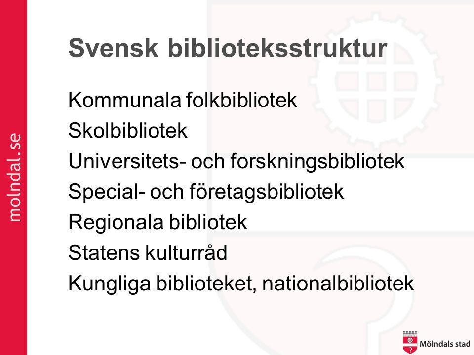 Svensk biblioteksstruktur