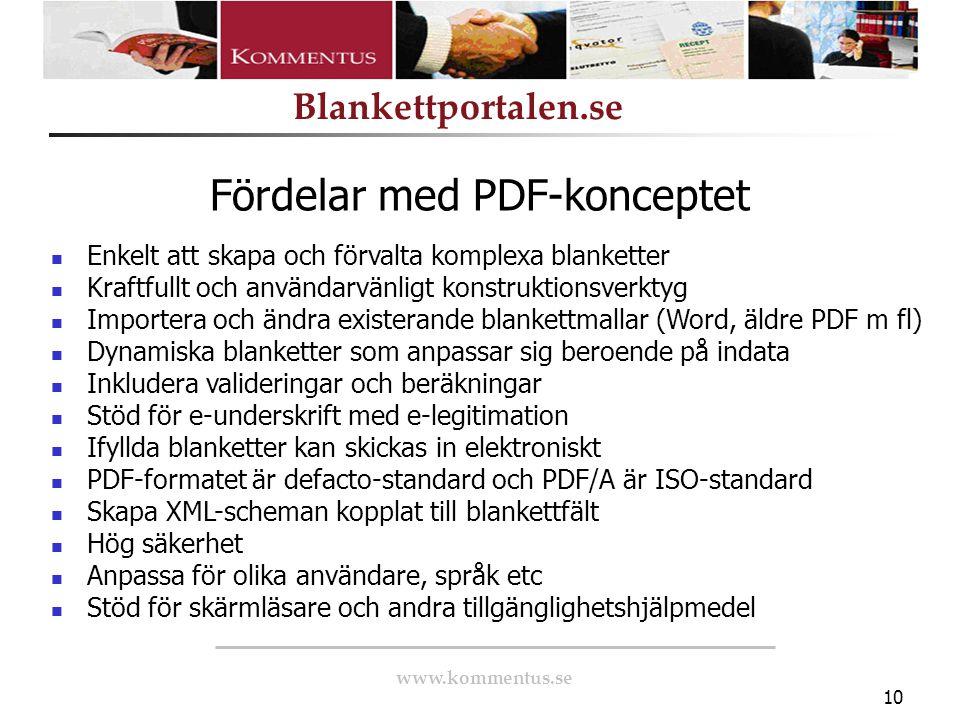 Fördelar med PDF-konceptet