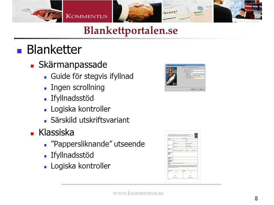Blanketter Skärmanpassade Klassiska Guide för stegvis ifyllnad