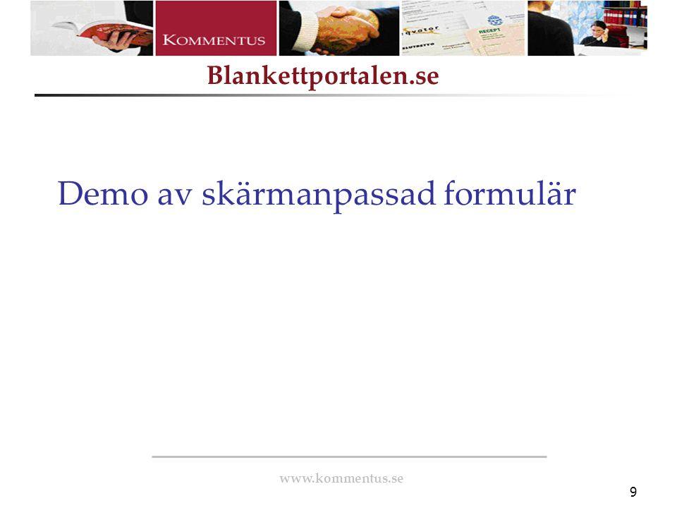Demo av skärmanpassad formulär