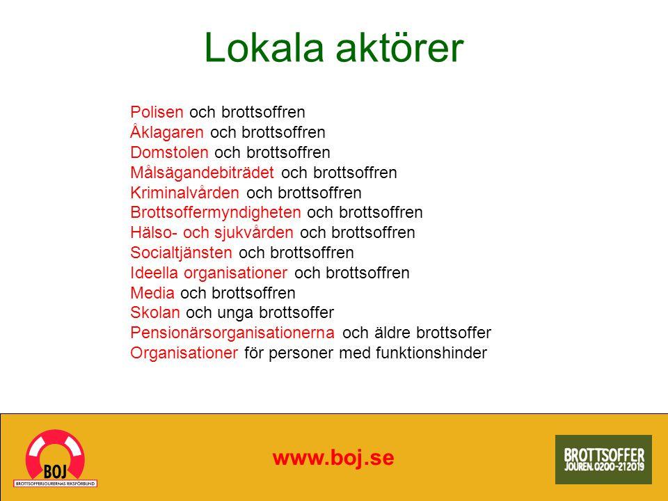 Lokala aktörer www.boj.se Polisen och brottsoffren