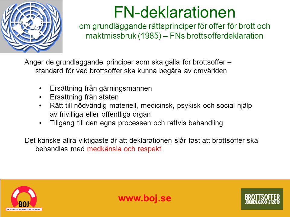 FN-deklarationen om grundläggande rättsprinciper för offer för brott och maktmissbruk (1985) – FNs brottsofferdeklaration