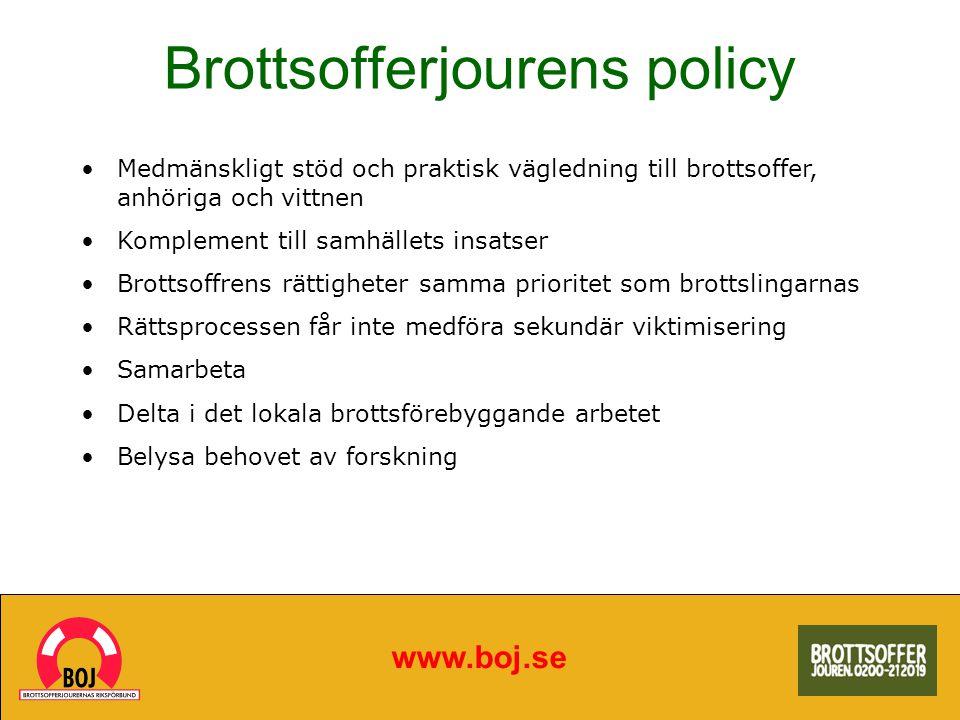 Brottsofferjourens policy
