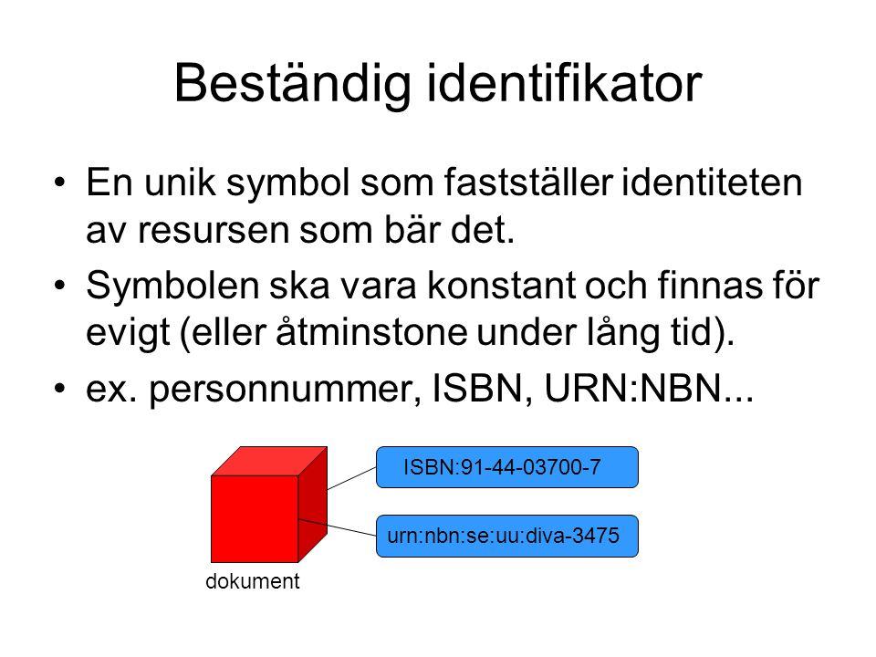 Beständig identifikator