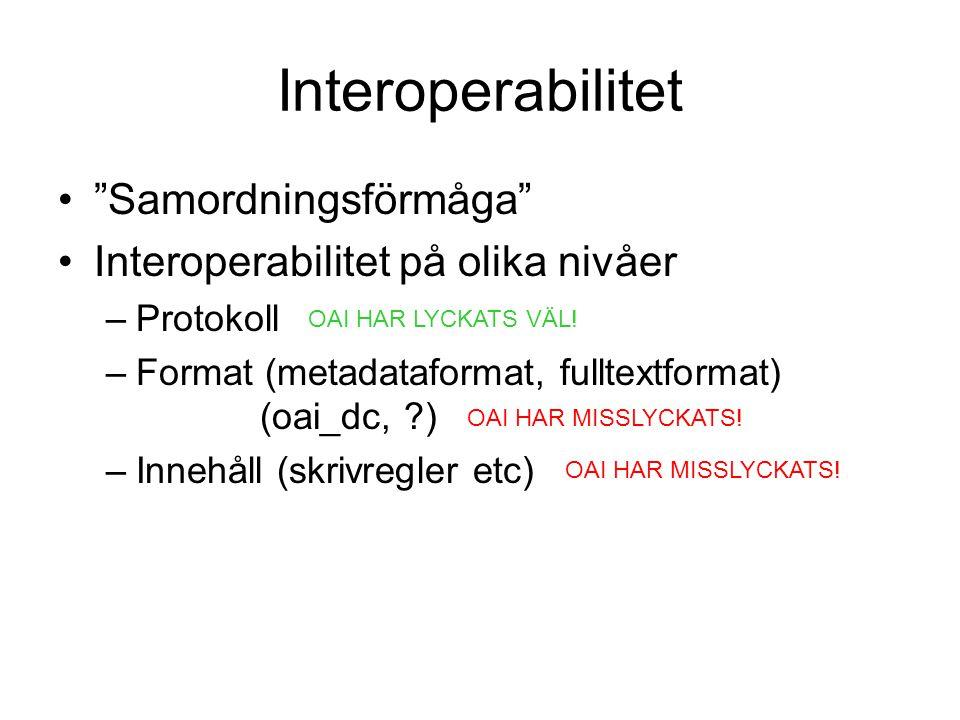 Interoperabilitet Samordningsförmåga