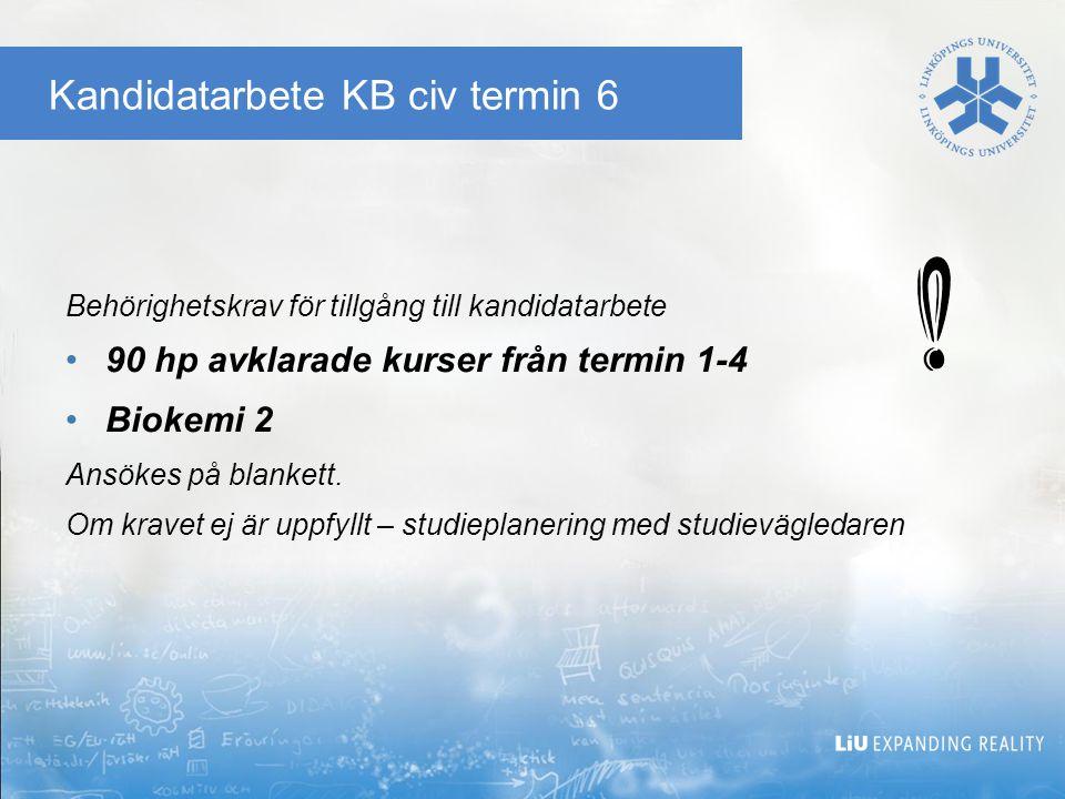 Kandidatarbete KB civ termin 6
