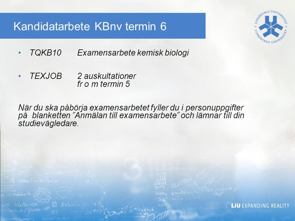 Kandidatarbete KBnv termin 6