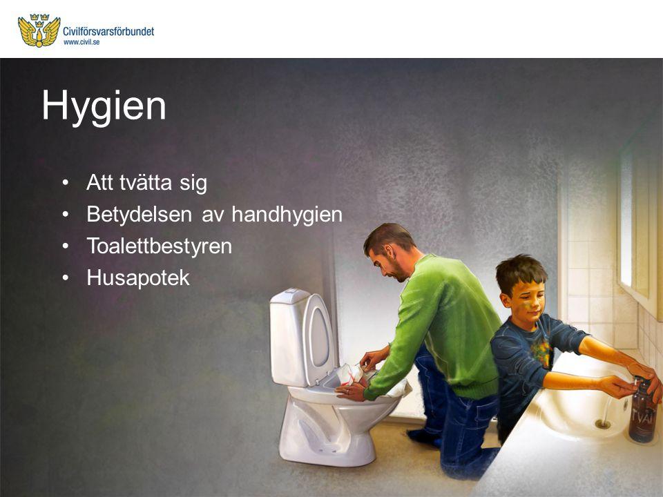 Hygien Att tvätta sig Betydelsen av handhygien Toalettbestyren