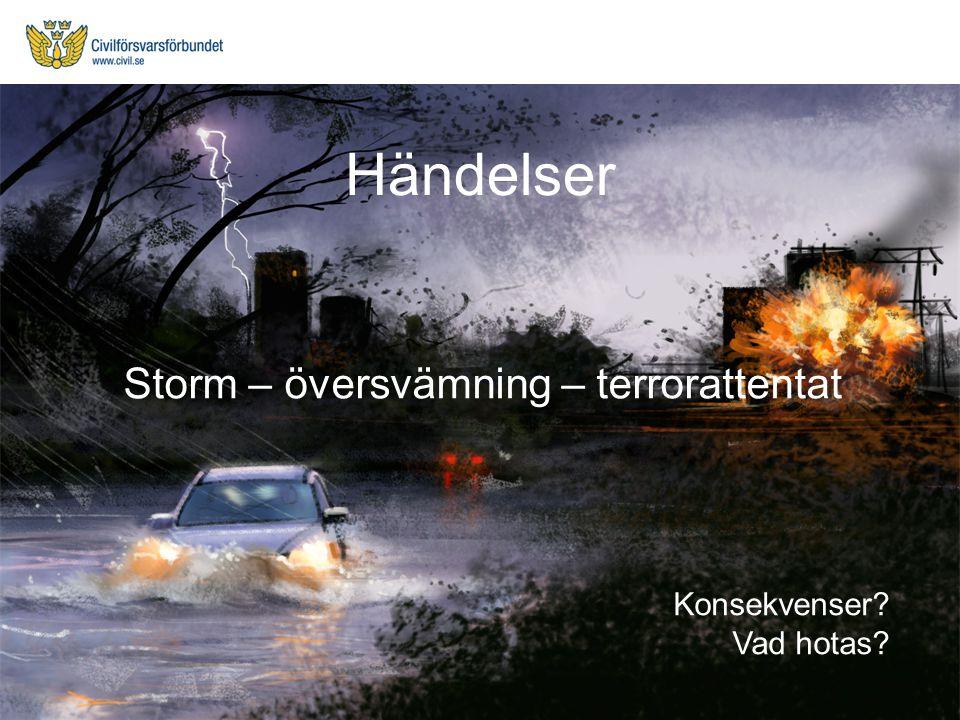 Storm – översvämning – terrorattentat