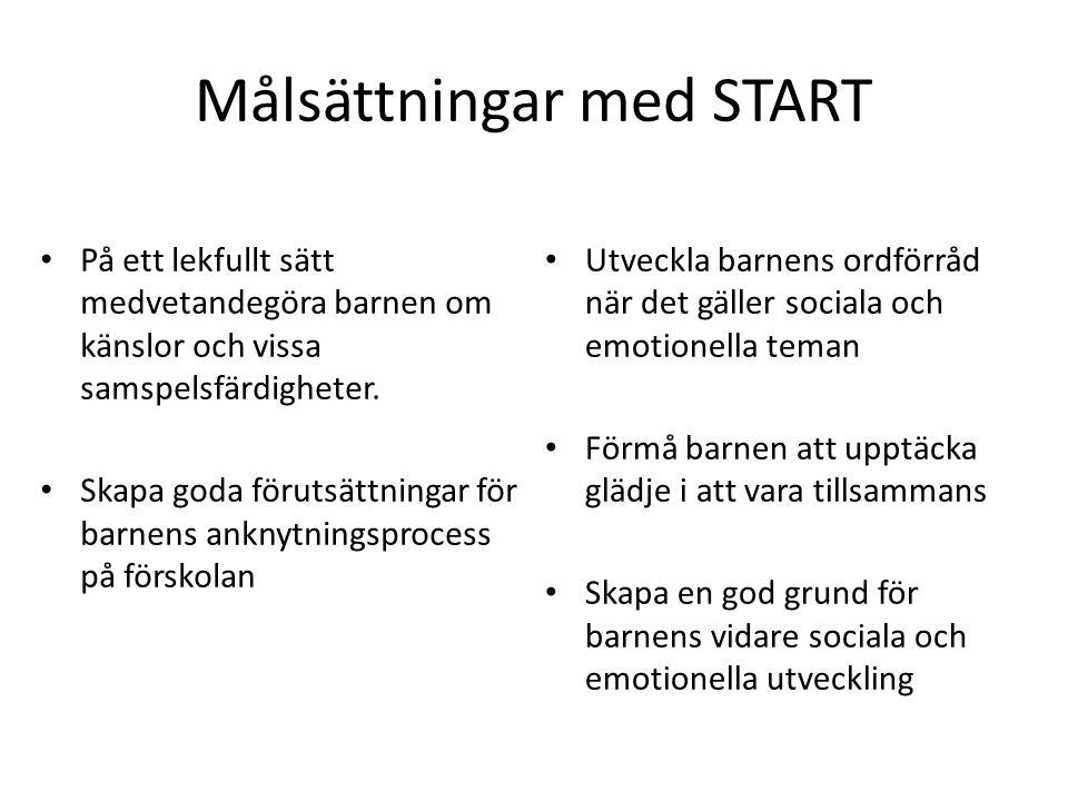 Målsättningar med START