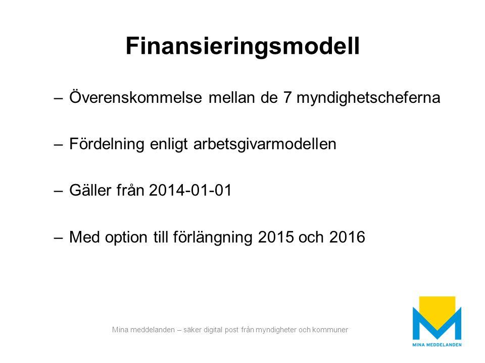 Finansieringsmodell Överenskommelse mellan de 7 myndighetscheferna