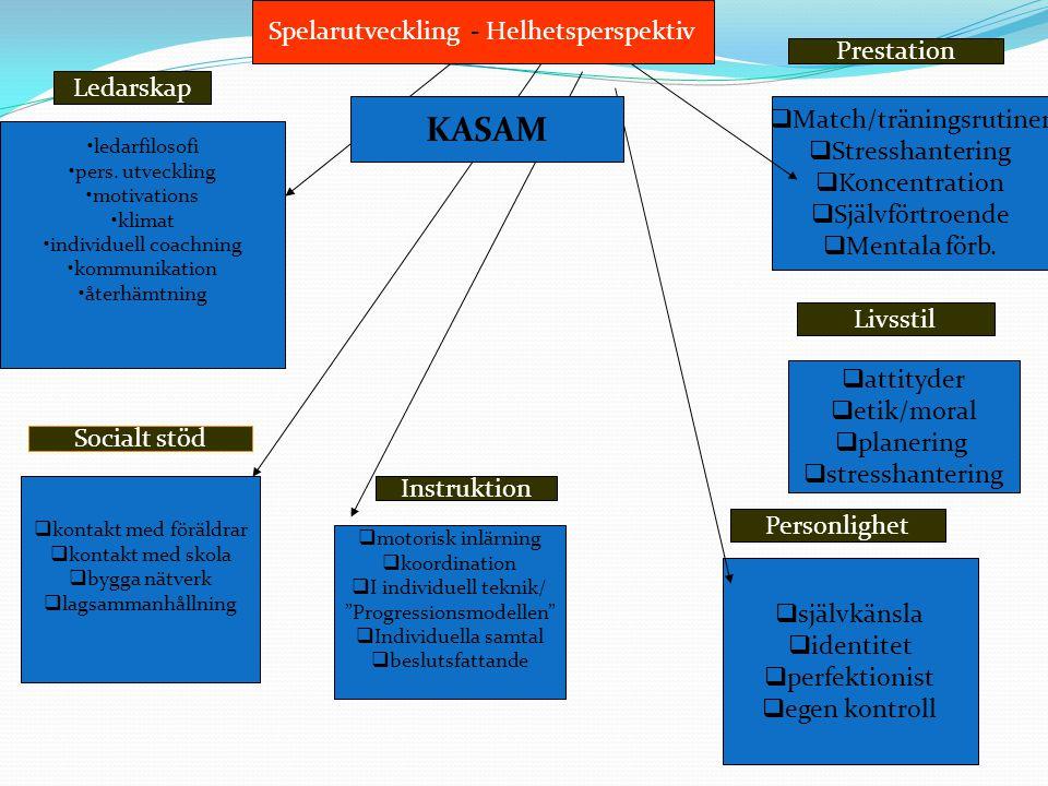 KASAM Spelarutveckling - Helhetsperspektiv Prestation Ledarskap