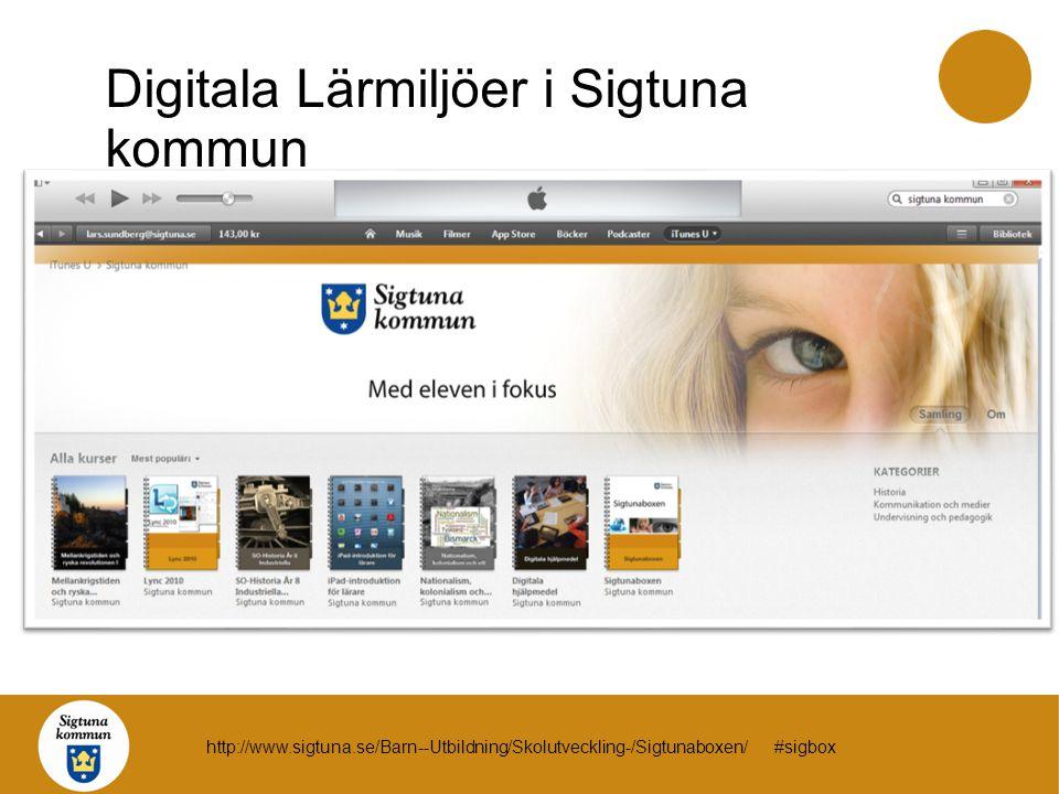 Digitala Lärmiljöer i Sigtuna kommun