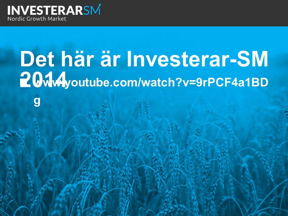 Det här är Investerar-SM 2014