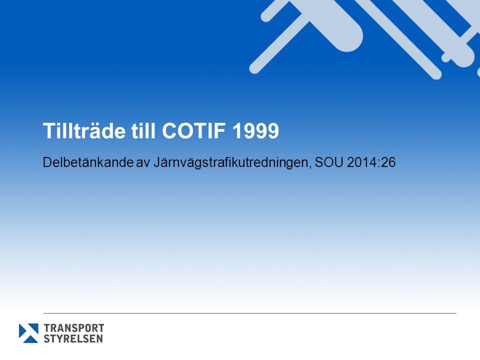 Delbetänkande av Järnvägstrafikutredningen, SOU 2014:26