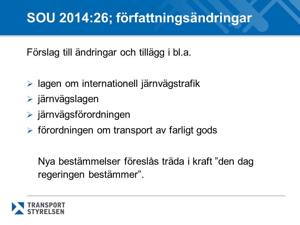 SOU 2014:26; författningsändringar
