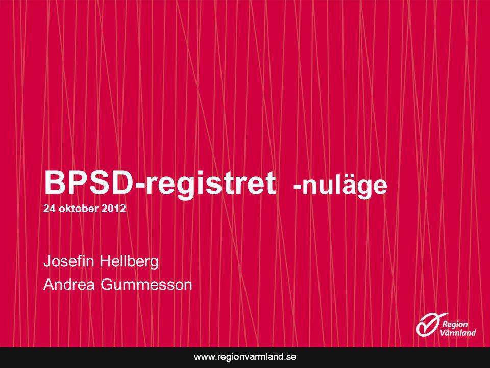 BPSD-registret -nuläge 24 oktober 2012