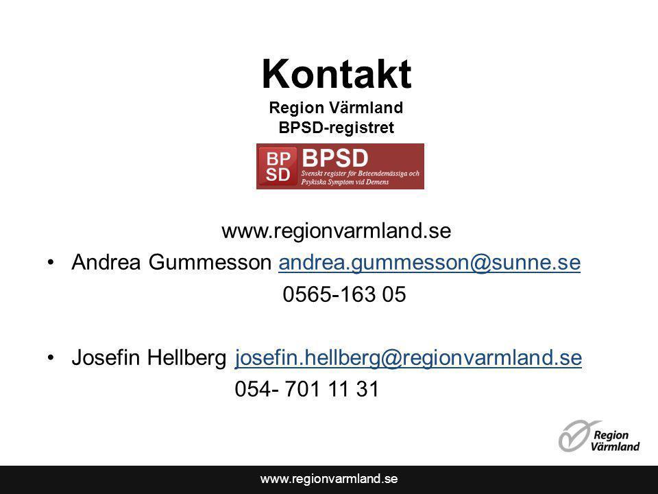 Kontakt Region Värmland BPSD-registret