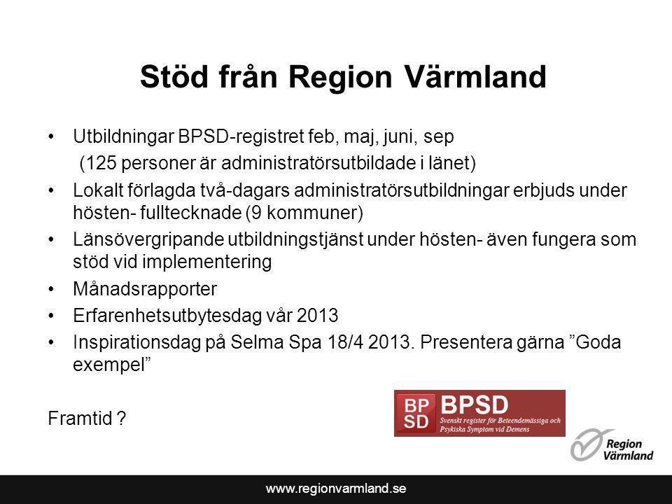Stöd från Region Värmland