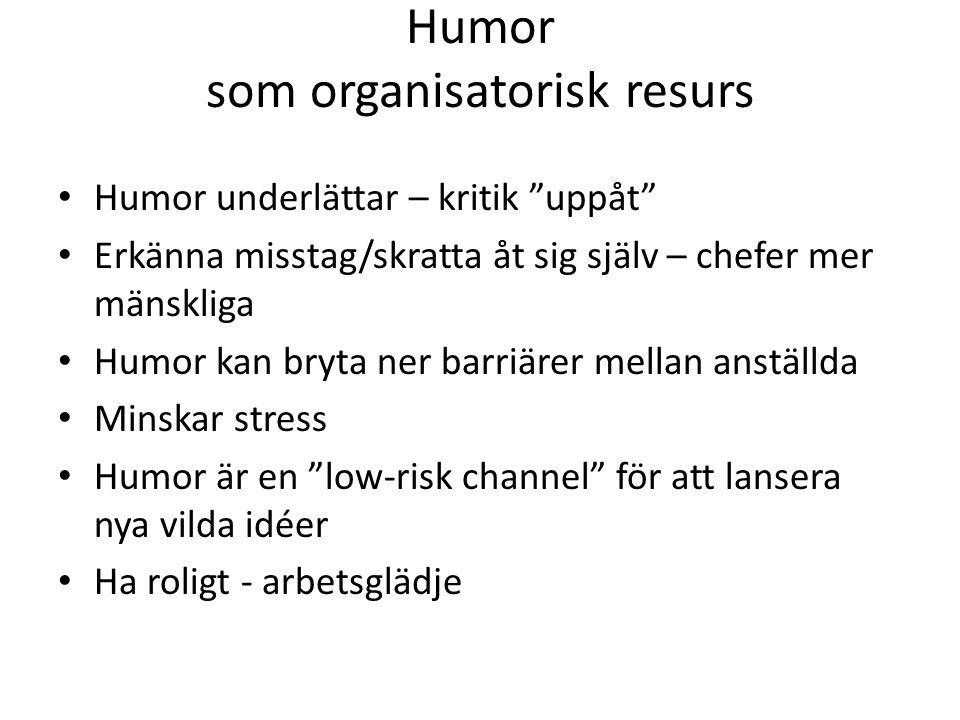 Humor som organisatorisk resurs