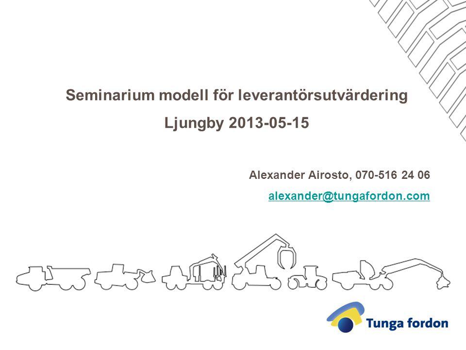 Seminarium modell för leverantörsutvärdering