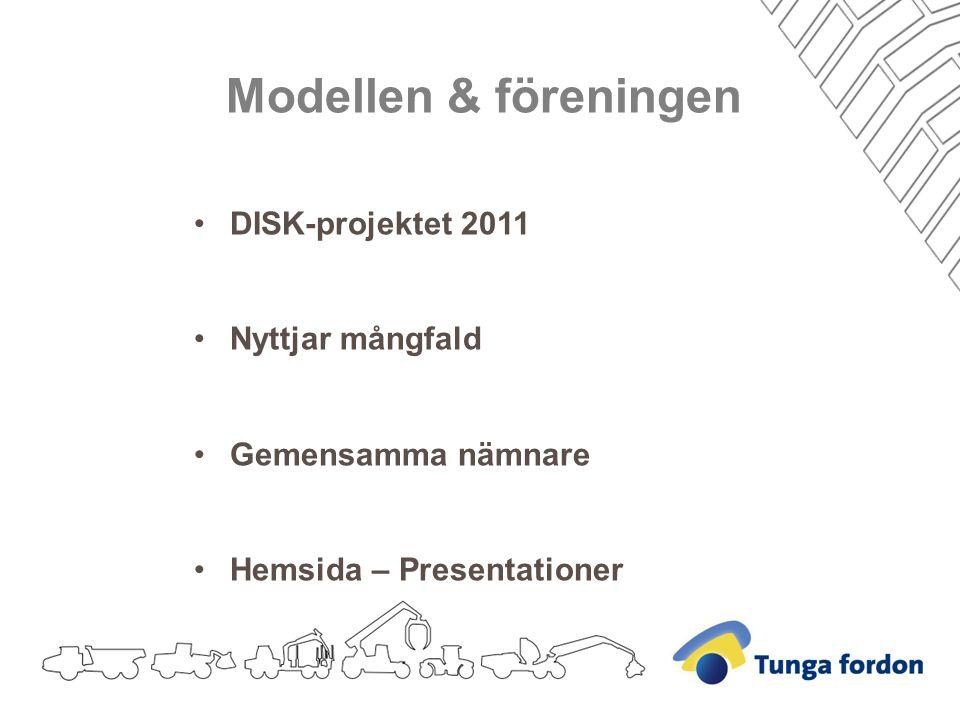 Modellen & föreningen DISK-projektet 2011 Nyttjar mångfald