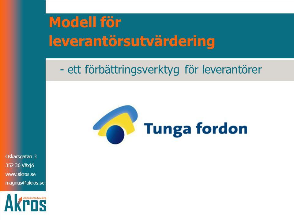Modell för leverantörsutvärdering