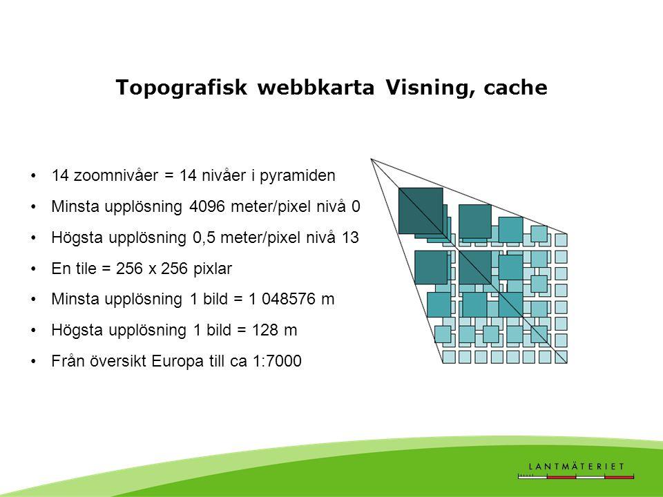 Topografisk webbkarta Visning, cache