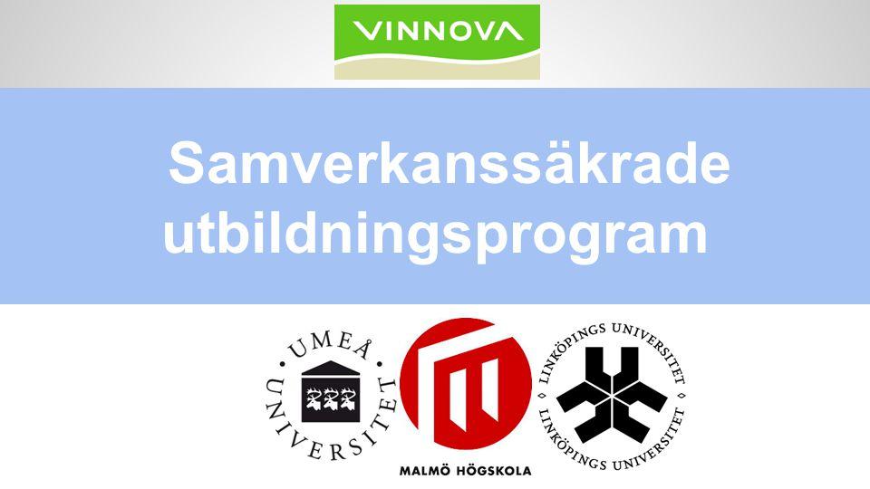 Samverkanssäkrade utbildningsprogram