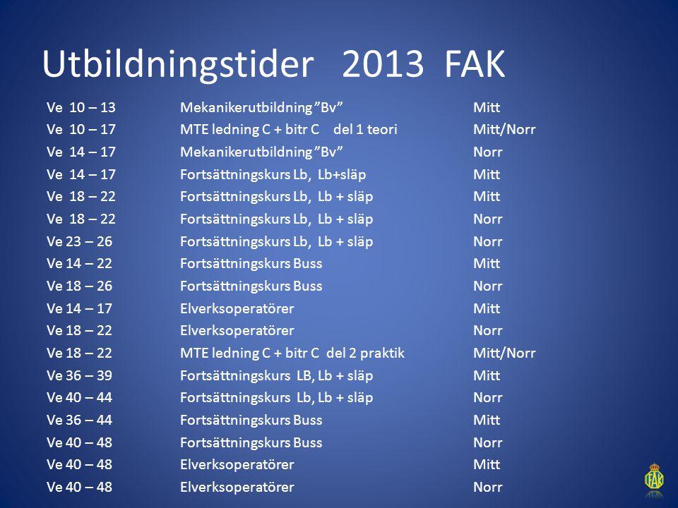 Utbildningstider 2013 FAK