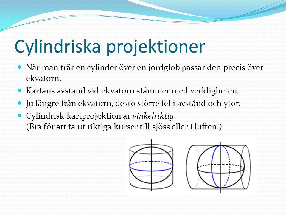 Cylindriska projektioner
