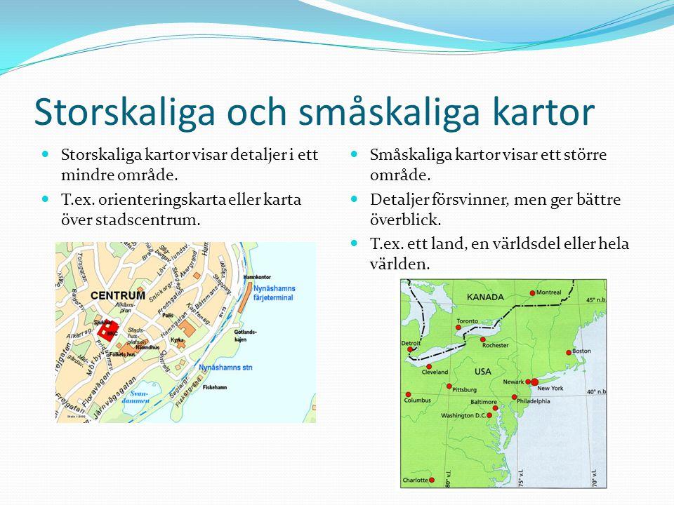 Storskaliga och småskaliga kartor