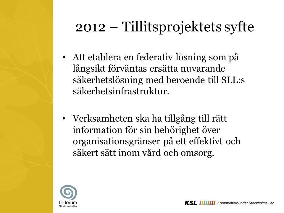2012 – Tillitsprojektets syfte